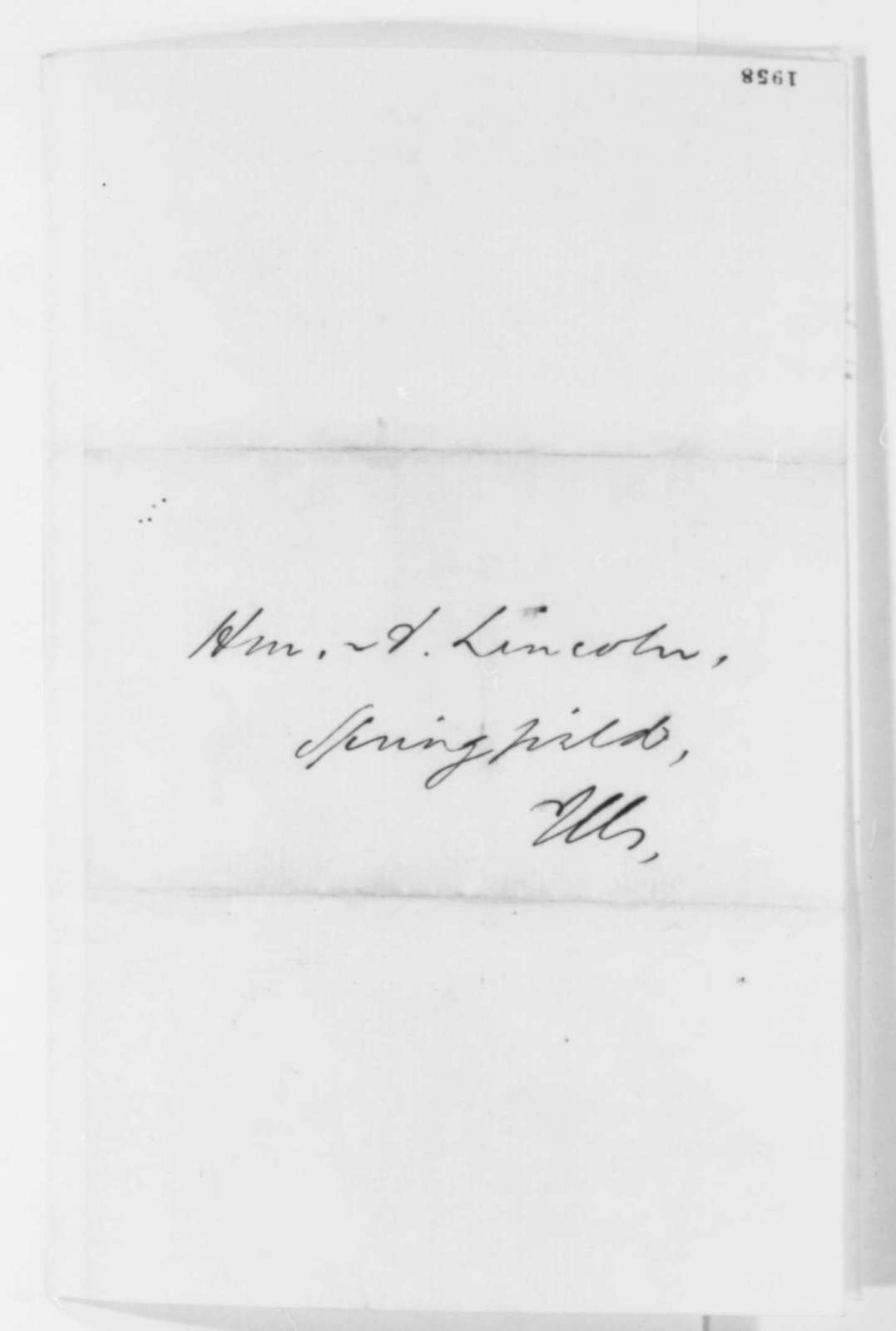 Charles H. Ray to Abraham Lincoln, September 1859