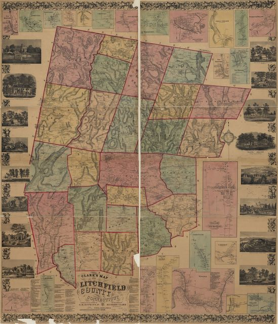Clark's map of Litchfield County, Connecticut.