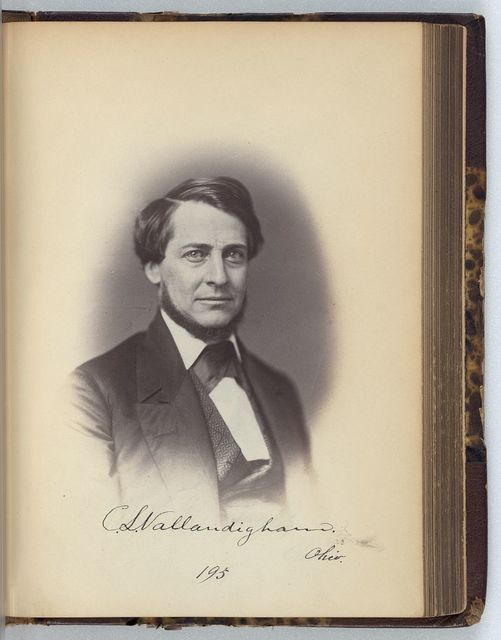 [Clement L. Vallandigham, Representative from Ohio, Thirty-fifth Congress, half-length portrait]