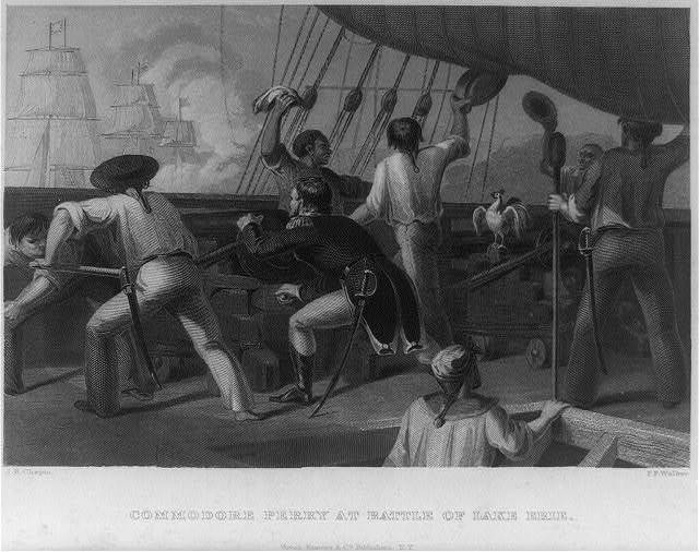 Commodore Perry at the battle of Lake Erie / J.R. Chapin ; F.F. Walker.