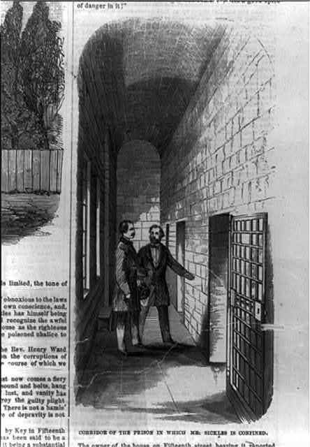 Corridor of the prison in which Mr. Sickles is confined