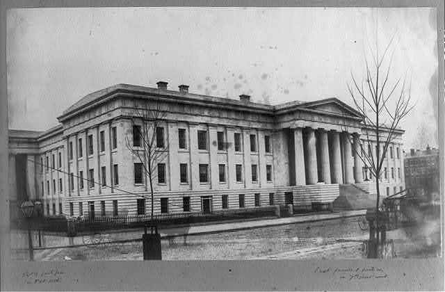 [Dept. of Interior, part of south face on F St. north, east facade and portico on 7th Street west]