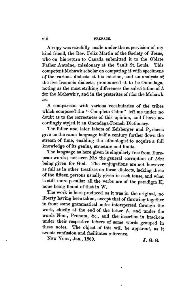 Dictionnaire françois-onontagué, édité d'après un manuscrit du 17e siècle,