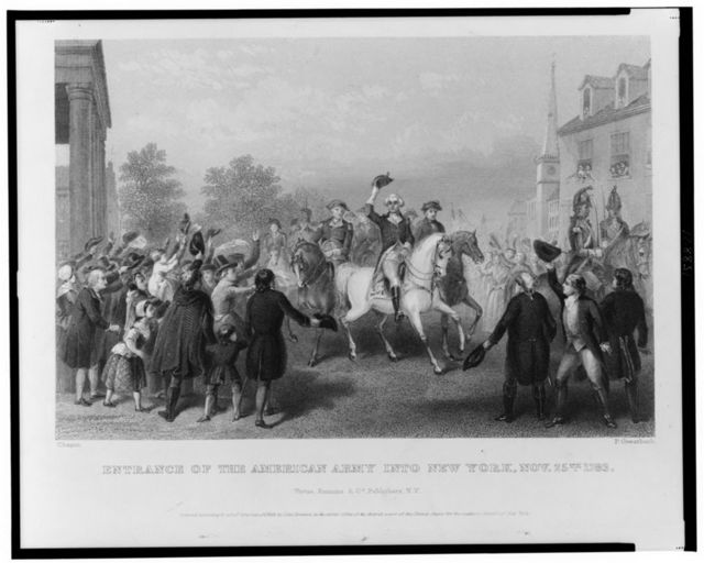 Entrance of the American Army into New York, Nov. 25th 1783 / Chapin ; P. Greatbach.