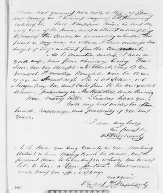 Ethelbert P. Oliphant to Abraham Lincoln, Thursday, July 28, 1859