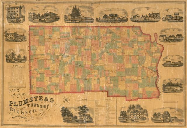 Farm map of Plumstead Township, Bucks Co., Penn'a /