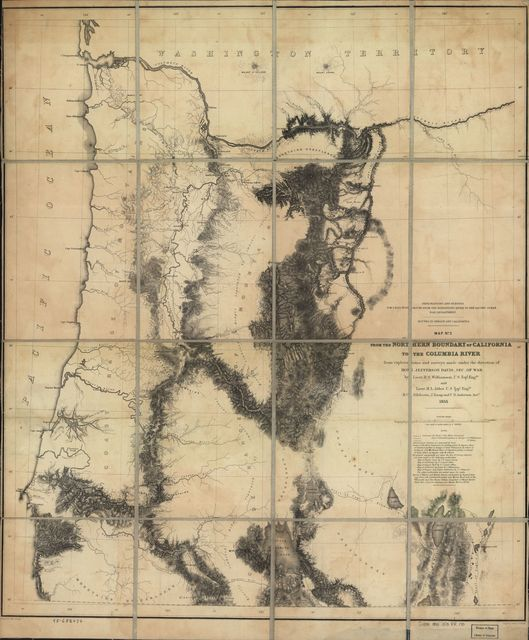 From the northern boundary of California to the Columbia River : from explorations and surveys /