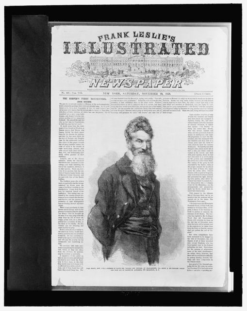 [Front page of Frank Leslie's illustrated newspaper with picture of John Brown]