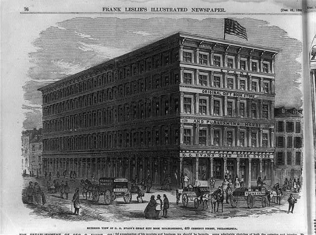 G. G. Evans's great gift book establishment, 439 Chestnut Street, Philadelphia: Exterior view