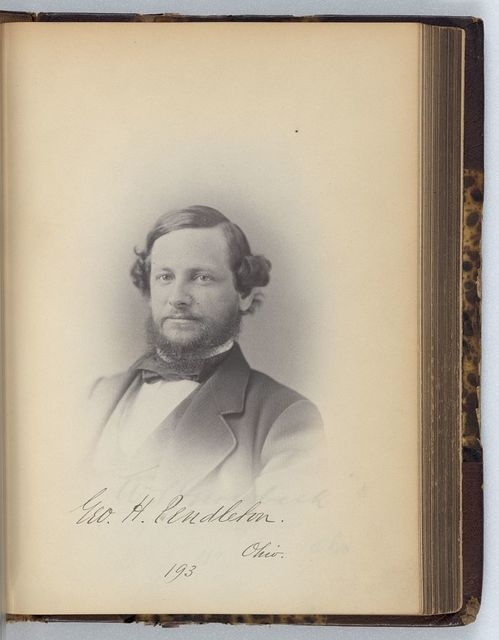 [George H. Pendleton, Representative from Ohio, Thirty-fifth Congress, half-length portrait]