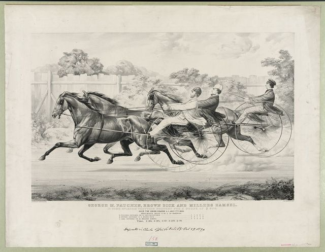 George M. Patchen, Brown Dick and Millers Dansel: in their splendid trotting contest for a purse of $500 - over the Union Course L.I. July 7th 1859