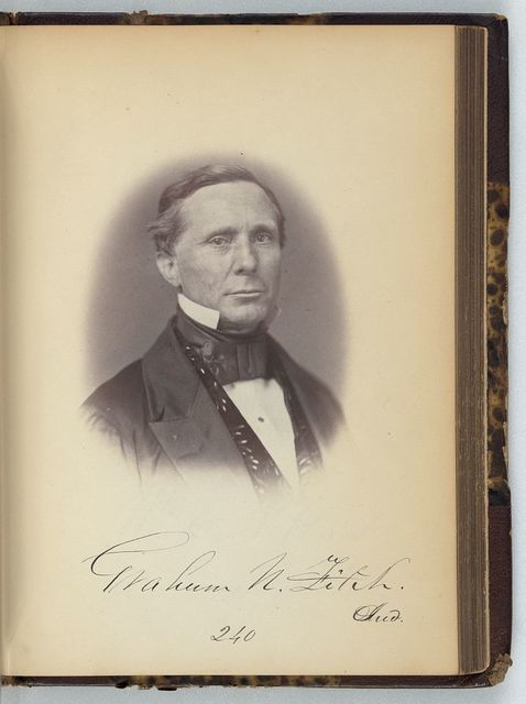 [Graham N. Fitch, Senator from Indiana, Thirty-fifth Congress, half-length portrait]