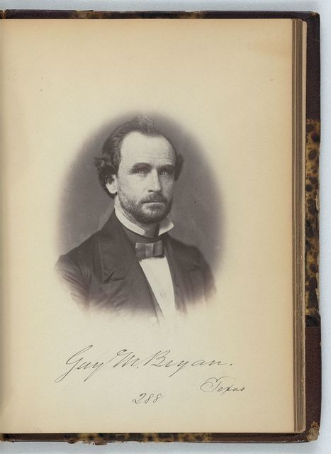 [Guy M. Bryan, Representative from Texas, Thirty-fifth Congress, half-length portrait]