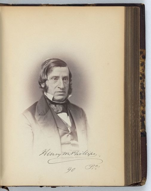 [Henry M. Phillips, Representative from Pennsylvania, Thirty-fifth Congress, half-length portrait]