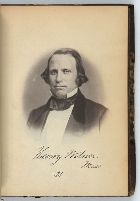 [Henry Wilson, Senator from Massachusetts, Thirty-fifth Congress, half-length portrait]