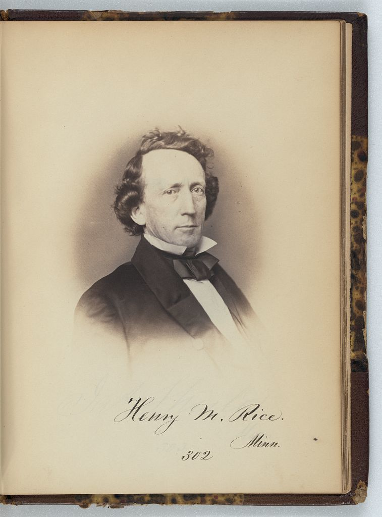 [H.M. Rice, Senator from Minnesota, Thirty-fifth Congress, half-length portrait]