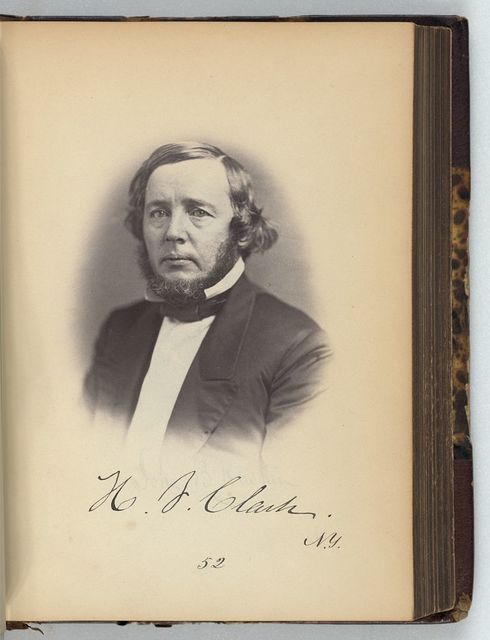 [Horace F. Clark, Representative from New York, Thirty-fifth Congress, half-length portrait]