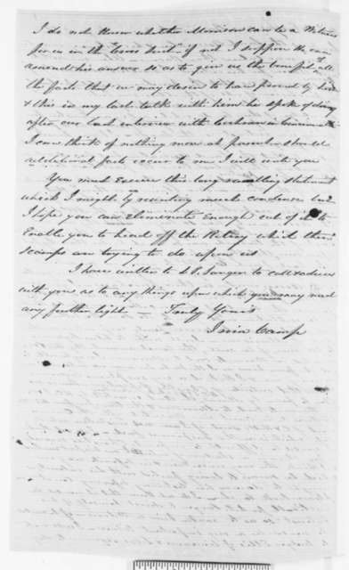 Irwin Camp to Abraham Lincoln, Wednesday, November 02, 1859  (Legal matters)