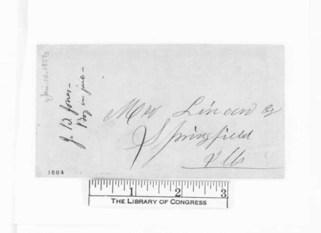 J. B. Jones to Abraham Lincoln, Monday, January 10, 1859  (Legal matters)