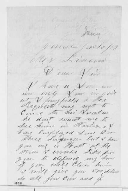 J. B. Jones to Abraham Lincoln, Monday, January 10, 1859  (Legal matters)