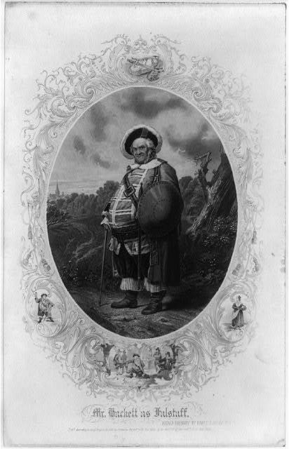 [James H. Hackett, full-length portrait, standing, facing slightly left; as Falstaff in King Henry IV]
