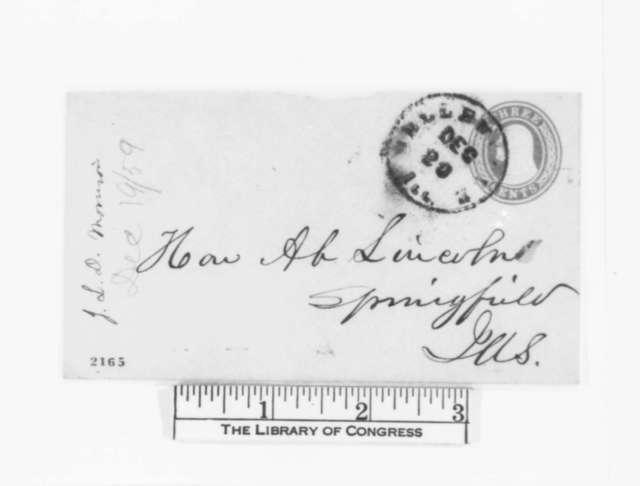 James L. D. Morrison to Abraham Lincoln, [December] 19, 1859  (Legal)