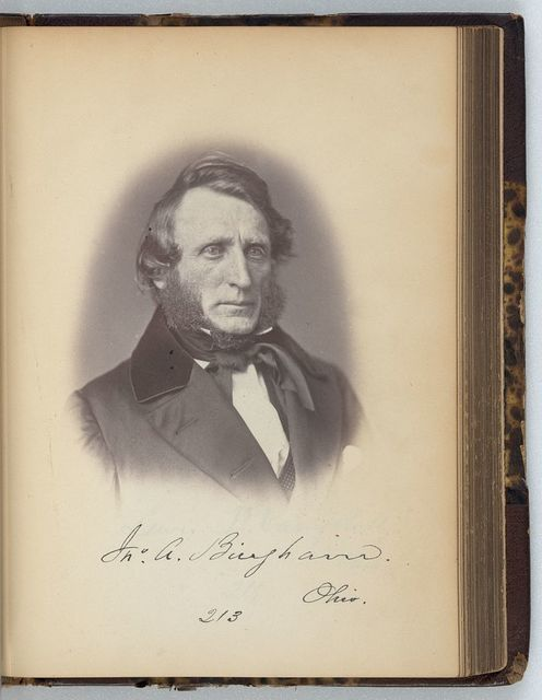 [John A. Bingham, Representative from Ohio, Thirty-fifth Congress, half-length portrait]