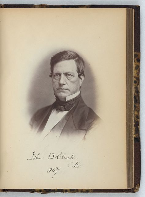 [John B. Clark, Representative from Missouri, Thirty-fifth Congress, half-length portrait]