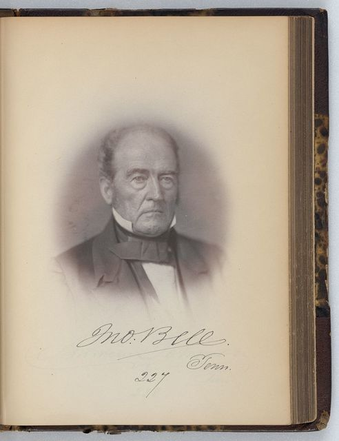 [John Bell, Senator from Tennessee, Thirty-fifth Congress, half-length portrait]