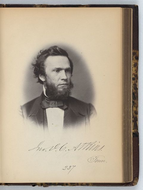 [John D.C. Atkins, Representative from Tennessee, Thirty-fifth Congress, half-length portrait]