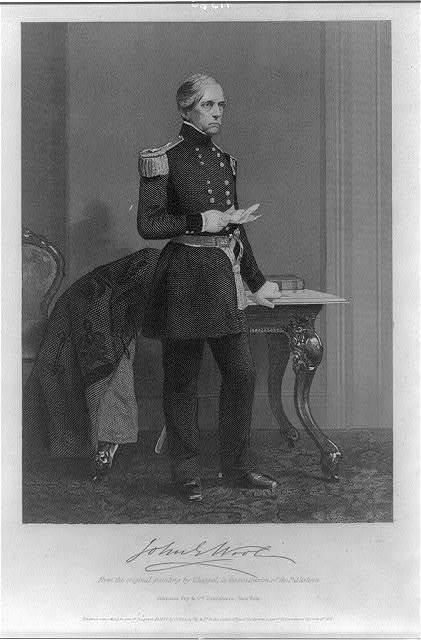 [John Ellis Wool, 1784-1869, full-length portrait, standing, in uniform]