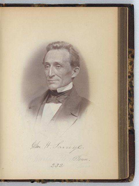 [John H. Savage, Representative from Tennessee, Thirty-fifth Congress, half-length portrait]