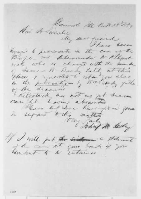 John M. Lesley to Abraham Lincoln, Sunday, October 23, 1859