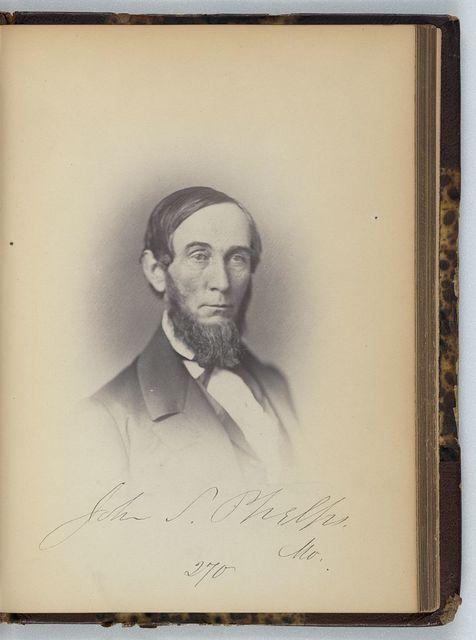 [John S. Phelps, Representative from Missouri, Thirty-fifth Congress, half-length portrait]