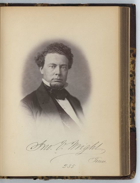 [John V. Wright, Representative from Tennessee, Thirty-fifth Congress, half-length portrait]
