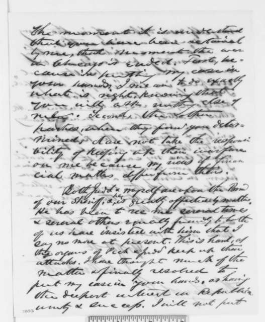 John Wentworth to Abraham Lincoln, Monday, November 28, 1859