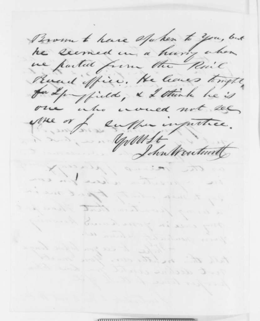 John Wentworth to Abraham Lincoln, Wednesday, December 21, 1859