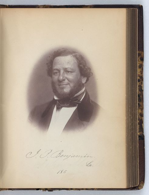 [J.P. Benjamin, Senator from Louisiana, Thirty-fifth Congress, half-length portrait]