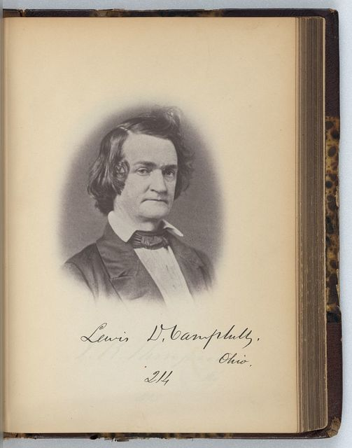 [L.D. Campbell, Representative from Ohio, Thirty-fifth Congress, half-length portrait]