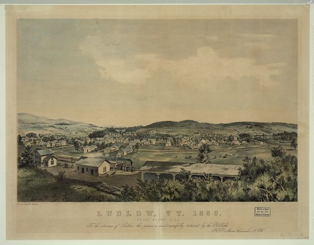 Ludlow, Vt. 1859 From south hill / / lith. of Endicott & Co., N.Y.