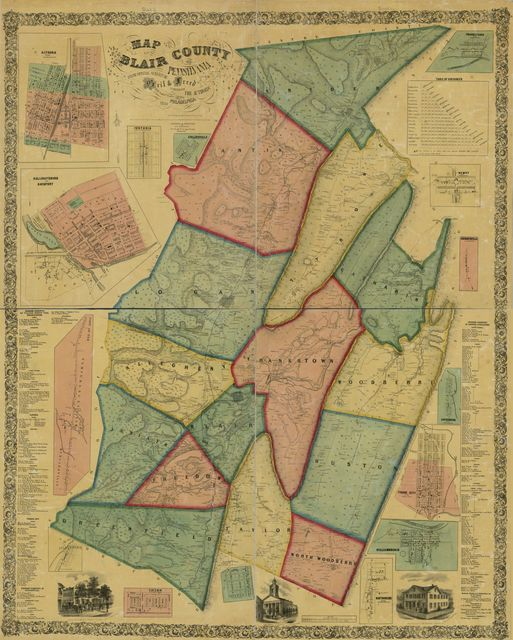 Map of Blair County, Pennsylvania : from special surveys /