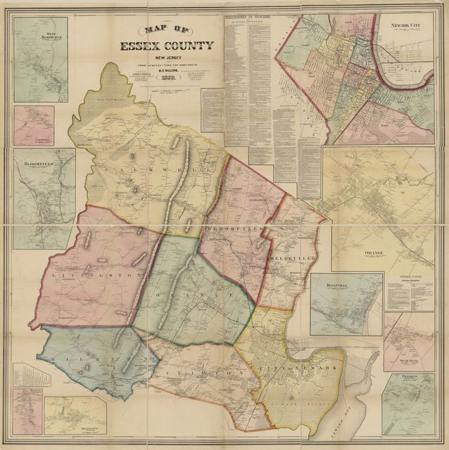 Map of Essex County, New Jersey : from surveys /