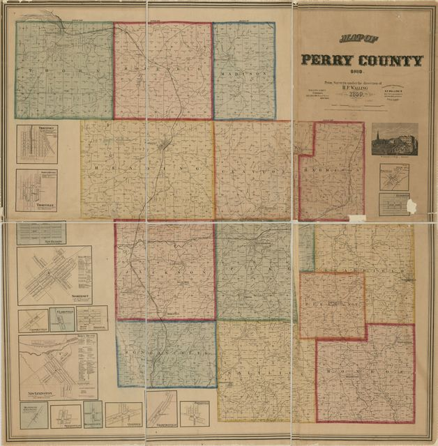 Map of Perry County, Ohio /