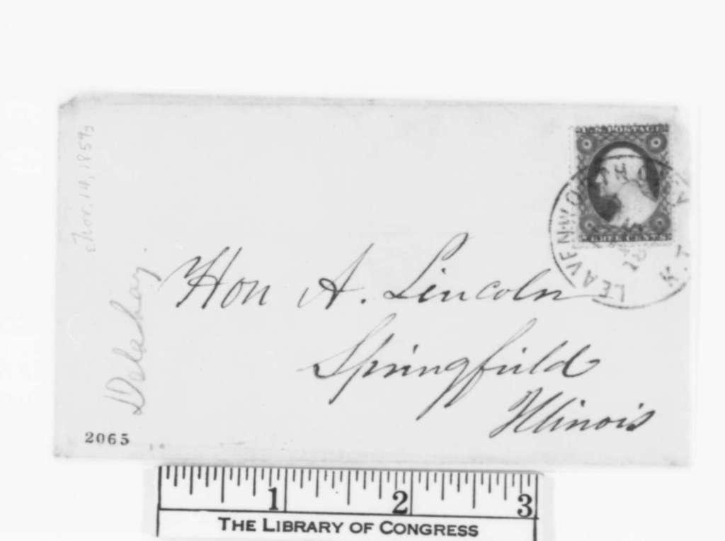 Mark W. Delahay to Abraham Lincoln, Monday, November 14, 1859