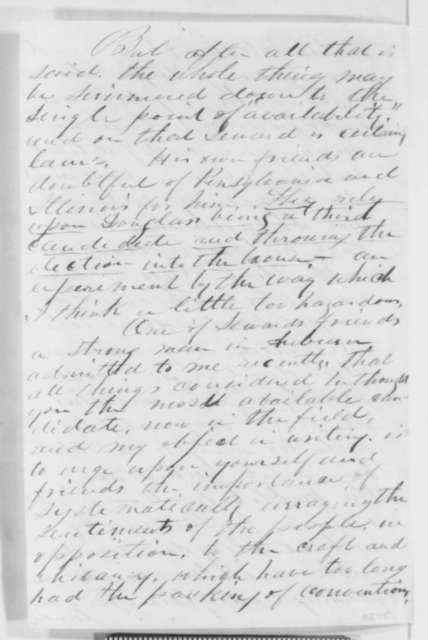 Miles S. Griswold to Abraham Lincoln, Sunday, November 13, 1859  (Offers assistance)