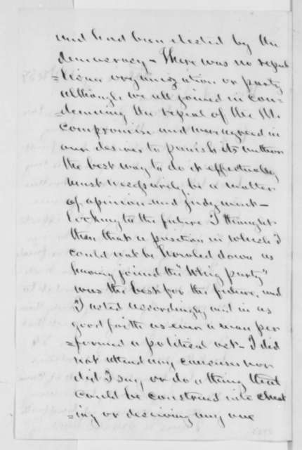 Norman B. Judd to Abraham Lincoln, Sunday, December 11, 1859