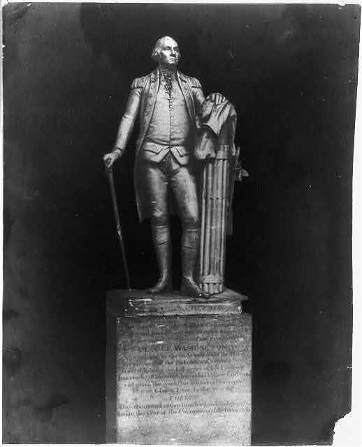 [Plaster copy of statue of George Washington]