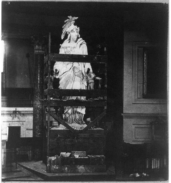[Plaster model of Statue of Freedom]