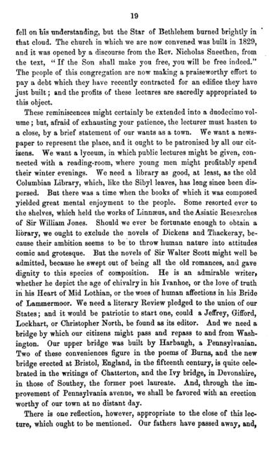 Reminiscences of Georgetown, D.C. : a lecture delivered in the Methodist Protestant Church, Georgetown, D.C., January 20, 1859 /