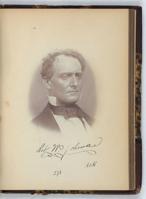 [Robert W. Johnson, Senator from Arkansas, Thirty-fifth Congress, half-length portrait]